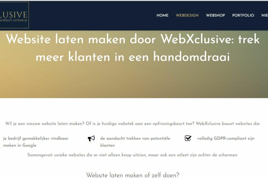 realisatie WebXclusive