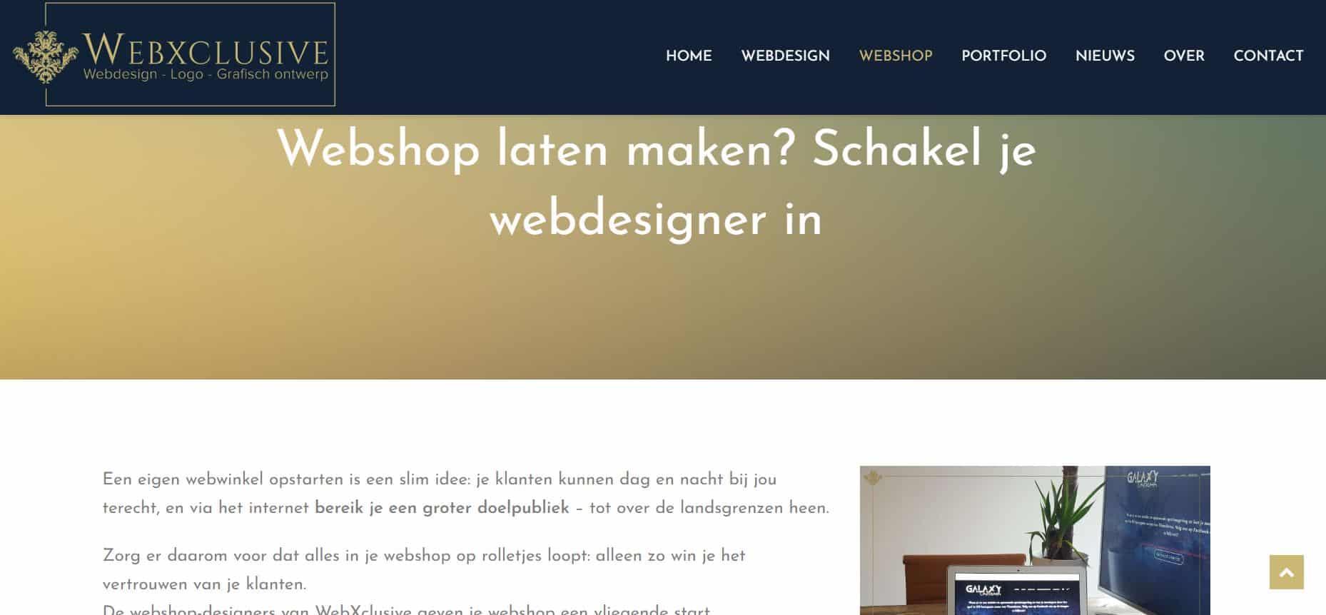 realisatie WebXclusive webshop