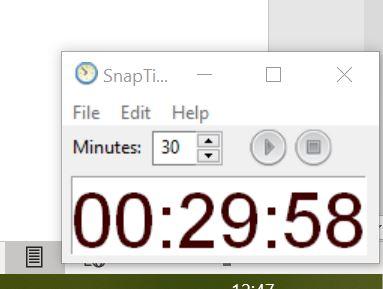 Screenshot van Snaptilmer - meer productiviteit