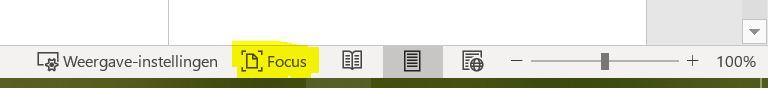 screenshot focusmode Word