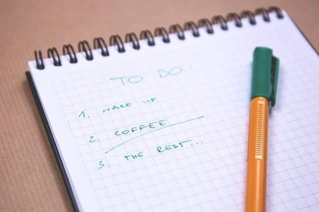 todo-lijst - schrijftip Het Schrijfpaleis