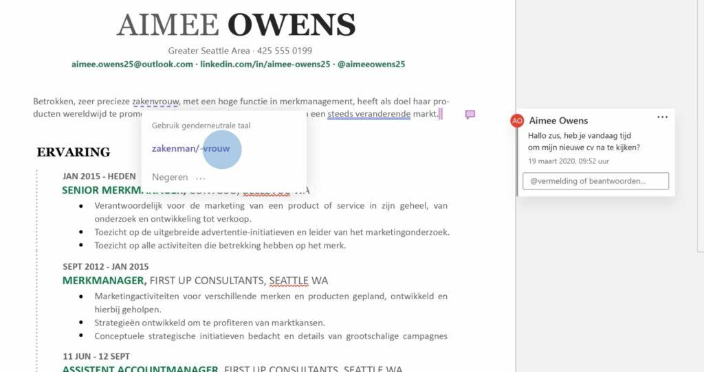 screenshot video taalblunder Microsoft